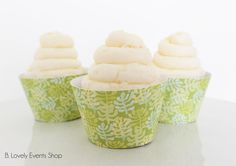 Palm Leaf Cupcake Wrappers, Palm Leaf Party, Tropical Party, Summer Cupcake Wrappers, Cupcake Holder,-Set Of 6, 12,18,24+ by BLovelyEventsShop on Etsy