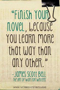 finish your novel