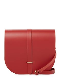 Saddle Crossbody Bag by The Cambridge Satchel Company at Gilt Cambridge Satchel, Printed Bags, Shoulder Strap, Shoulder Bags, Crossbody Bag, Leather Crossbody, Minimalist Fashion, Saddle Bags, Handbags