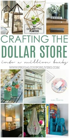 Crafting the Dollar Store - DIY Dollar Store Crafts and Hacks on Frugal Coupon Living. Dollar Store Craft Ideas for your home. : Crafting the Dollar Store - DIY Dollar Store Crafts and Hacks on Frugal Coupon Living. Dollar Store Craft Ideas for your home. Diy Home Decor For Apartments, Diy Home Decor Projects, Diy Home Crafts, Crafts To Sell, Craft Projects, Adult Crafts, Money Making Crafts, Decor Crafts, Diy Crafts For Adults