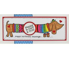 Clear Magic stamp from the Francoise Collection designed by Francoise Read and Birthday Cards For Men, Male Birthday, Dog Cards, Happy B Day, My Stamp, Paper Art, Paper Crafts, Cute Cards, Adult Coloring