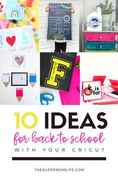 AD: Looking for some fun back to school projects? Check out these 10 projects I found online that you can create with your Cricut! Back To School Teacher, Back To School Supplies, First Day Of School, School Days, Diy Craft Projects, School Projects, Craft Tutorials, Diy Crafts, Business Ideas For Women Startups