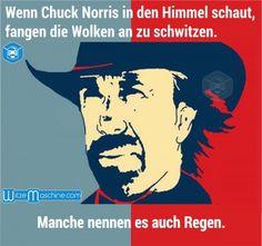 Chuck Norris Witze - Wie Regen entsteht - Lustige Chuck Norris Fakten