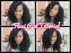 I love this, I need to get me some Flexi Rods. I Big Bouncy Flexi Rod Tutorial - CURLS Crème Brule & Blueberry Curl Contr...
