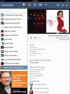 on mariahs christmas pandora station - Best Christmas Pandora Station
