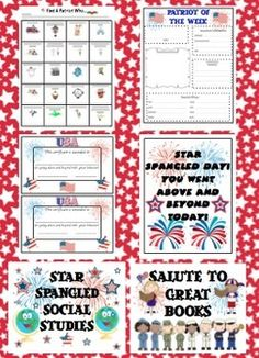 Patriotic Theme Classroom Back to School Pack - Stars and Stripes Forever! $