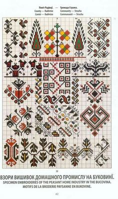 Ц Cross Stitch Borders, Cross Stitch Charts, Cross Stitch Patterns, Folk Embroidery, Cross Stitch Embroidery, Embroidery Patterns, Seed Bead Patterns, Beading Patterns, Palestinian Embroidery
