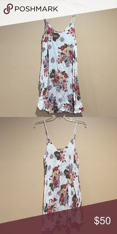 ✨NEW Brandy Melville Gaby dress PRICE NEGOTIABLE USE OFFER OPTION. Brandy Melville Gaby dress in cream floral. ❌NO TRADES❌ Brandy Melville Dresses Mini