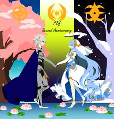 Fire Emblem Azura, Fire Emblem Fates, Second Anniversary, Fire Emblem Characters, Blue Lion, Anime Nerd, Another Anime, Short Comics, Chef D Oeuvre