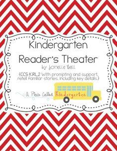 Kindergarten Reader's Theater // Common Core aligned