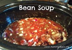 Beans are healthy and delicious and can easily be made in your crock pot. This is a recipe for Crock pot Bean Soup.