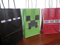 Hey, I found this really awesome Etsy listing at https://www.etsy.com/listing/187052899/12-minecraft-birthday-party-treat-sacks