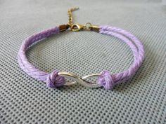 Infinity wish bracelet hemp ropes bracelet by braceletbanglecase, $2.95