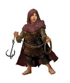 f Halfling Rogue Thief grapple hook cloak lwlvl