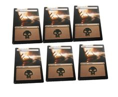 MTG Altered Painted Swamp Land Lot of 6 Khans of Tarkir #WizardsoftheCoast