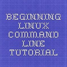Beginning Linux command line tutorial