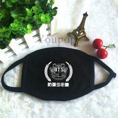 KPOP Fashion BTS Bangtan Boys 2nd Mini Album Logo Dust Cotton Mouth-muffle Face Mask Maschere Antipolvere Masques KZ139 #Affiliate