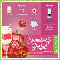 Herbalife Strawberry Parfait Shake More Herbalife Dieta, Herbalife F1, Herbalife Meal Plan, Herbalife Distributor, Herbalife Recipes, Herbalife Nutrition, Herbalife Motivation, Nutrition Club, Nutrition Shakes