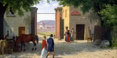CHRISTOFFER WILHELM ECKERSBERG (1783/1853), DANISH PAINTER: The daily life observations and harmonious principles of composition | Meeting Benches