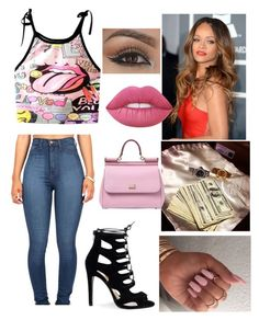 """Rihanna"" by jewelz0383 on Polyvore featuring Lime Crime and Dolce&Gabbana"