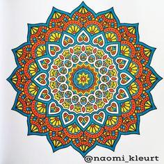 Het tweede enige echte mandala kleurboek voor volwassenen, kleuren voor volwassenen, mandala, stabilo