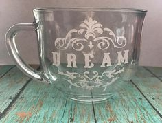 18 oz Dream Coffee Mug Clear Coffee Mug Big Coffee Mug