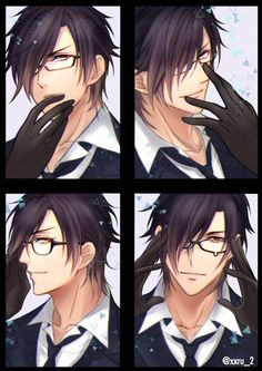 anime boy with glasses Anime Boys, Chica Anime Manga, Hot Anime Guys, Anime Art, Touken Ranbu, Anime Comics, Anime Style, Anime Glasses Boy, Character Art
