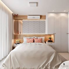 The bedroom is the place where you feel the most comfortable and relaxed. Using this 4 luxurious bedroom wall ideas add a new dimension to your room. Interior Design Bedroom, Master Bedrooms Decor, Bedroom Decor, Small Room Bedroom, Small Master Bedroom, Home, Home Bedroom, Modern Bedroom, Home Decor