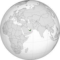 Emirati Arabi Uniti - Localizzazione