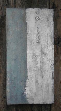 Abstract Ocean Texture Painting Minimalist by AmyNealArtStudio