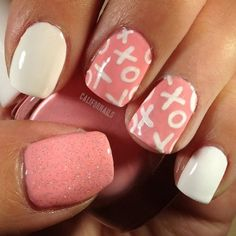 Cute Valentine's Day Nails | very cute pink nail design ♡~Happy Valentine's Day~♡ | My Style