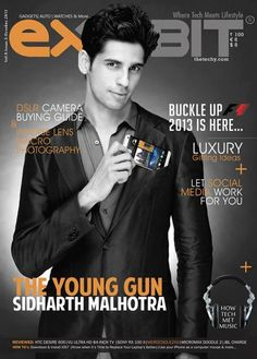 Siddharth Malhotra on the cover of Exhibit October 2013 #Bollywood #Fashion #Style