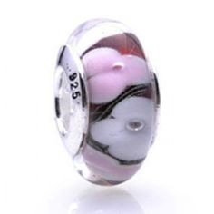 Silver and Murano Pink Flowers Glass  Beads  Fit pandora,trollbeads,chamilia,biagi and any customized bracelet/necklaces. #Jewelry #Fashion #Silver# handcraft #DIY #Accessory Pandora Accessories, Pandora Jewelry, Chamilia Jewelry, White Beads, Silver Beads, Custom Jewelry, Diy Jewelry, Cheap Beads, Pink Petals