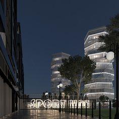 Mixed Use Development, Multi Story Building, Architecture, Architecture Design