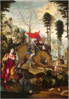 St, George and the Dragon by Sodoma.