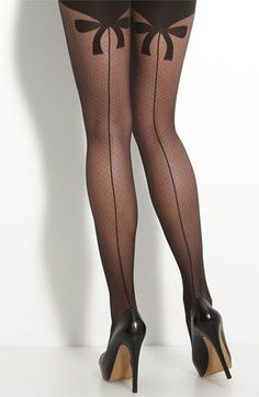 "Wolford - Secret Bow Pantyhose $40.90 Black *Always wear these with something long enough completely cover the ""secret bow."" If showing, it looks... not so classy."