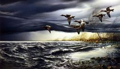 Whitewater by Terry Redlin Wildlife Paintings, Wildlife Art, Waterfowl Hunting, Duck Hunting, Terry Redlin, Most Popular Artists, Country Artists, Outdoor Art, Magazine Art