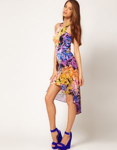 One day... this dress will be mine <3    #floral #peplum #asymmetrical