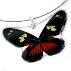 Whole Butterfly Pendant, Doris Longwing Butterfly