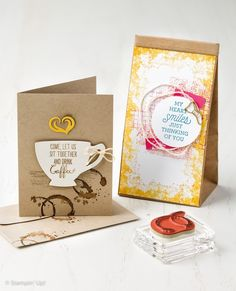 Have a Cuppa, hand stamped cards