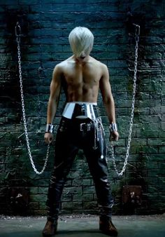 Four!! The fourth of the sexiest guys to ever live. And this one is already chained to the wall.