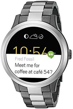 Shop for Fossil Men's 'Q Founder' Customizable Touchscreen SmartWatch Android Wear Notifications Brown Leather Watch. Get free delivery On EVERYTHING* Overstock - Your Online Watches Store! Smartwatch, Fossil Q Wander, Android Wear, Fossil Watches, Gold Watches, Jewelry Watches, Wearable Technology, Unisex, Dark Brown Leather
