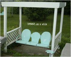 Vintage Metal Chairs On Pinterest Porch Glider Vintage
