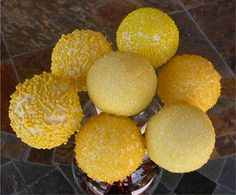 yellow cake pops for wedding shower