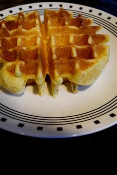 Cornbread Waffle Recipe  I used applesauce instead of oil.  Worked perfectly.
