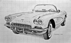 1962 Corvette Sketch