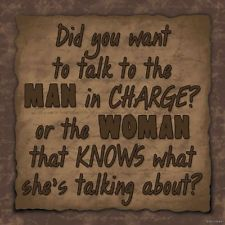 DID U WANT TO TALK TO MAN IN CHARGE FUNNY Wood Sign Primitive Rustic Home Decor