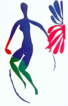 Henri Matisse, Blue Nude with Green Stockings, 1952. Gouache on paper, cut and pasted, cm. 258 x 167, © c / o Pictoright Amsterdam, 2014