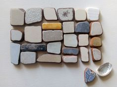 Genuine Sea Pottery, Tiles, 63 pieces in a quadrilateral shape Sea Urchin Shell, Geometric Shapes, Heart Shapes, Art Projects, Tiles, Mosaic, Pottery, Crafts, Manualidades