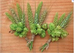 Hops and Barley + wheat = boutonnière